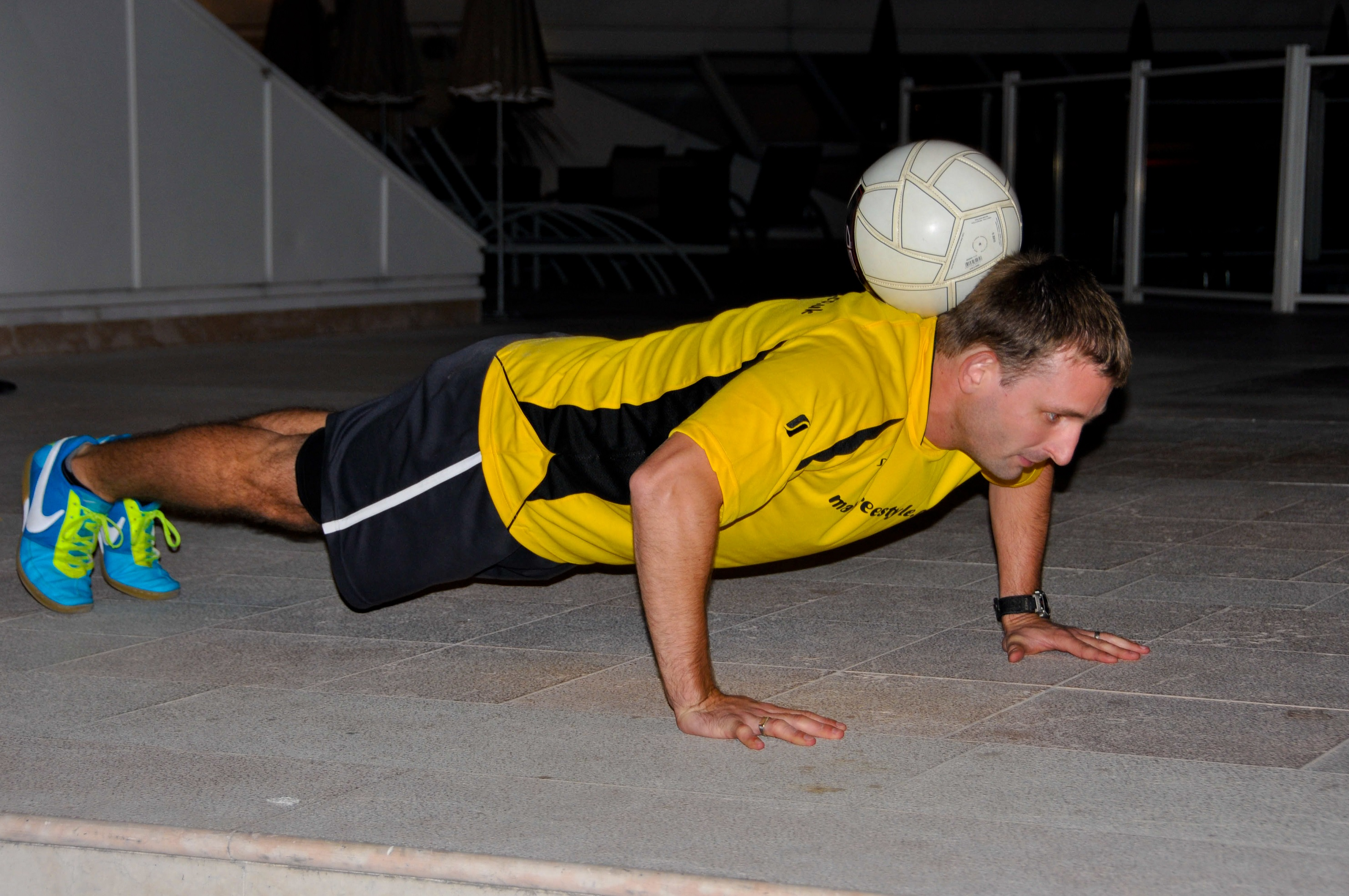 Try something different! Matt doing his own special version of push-ups